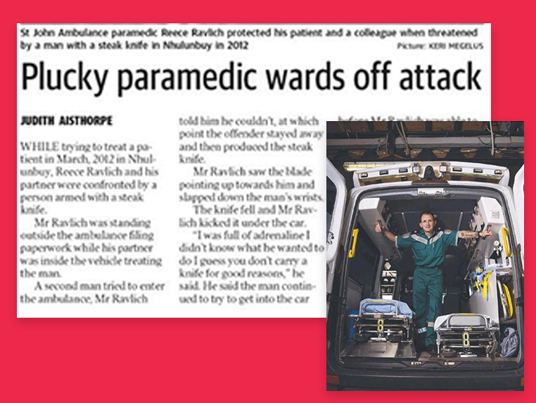 Paramedic Receives Governor-General's Brave Conduct Commendation